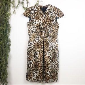 Tarhari | Animal Print Dress with Cap Sleeves